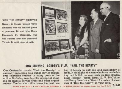 Harry Steenbock and Evelyn Steenbock at movie premier.
