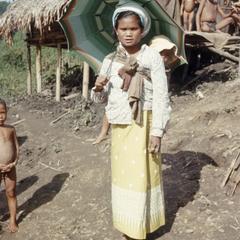 Ethnic Khmu' woman and baby