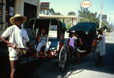 Rickshaws Serving as Taxis in Tamatave