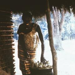 "Preparing Manioc as Bread Called ""Chi Kwanga"""
