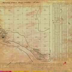[Public Land Survey System map: Wisconsin Township 18 North, Range 09 West]