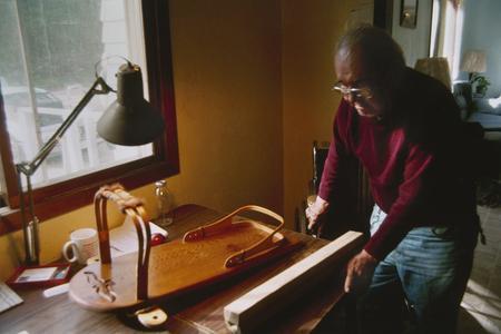 Ned Daniels describes a cradleboard he made