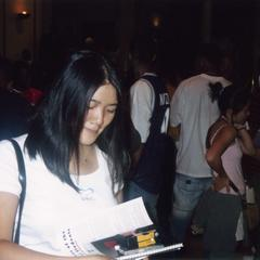Student collecting information at 2003 MCOR