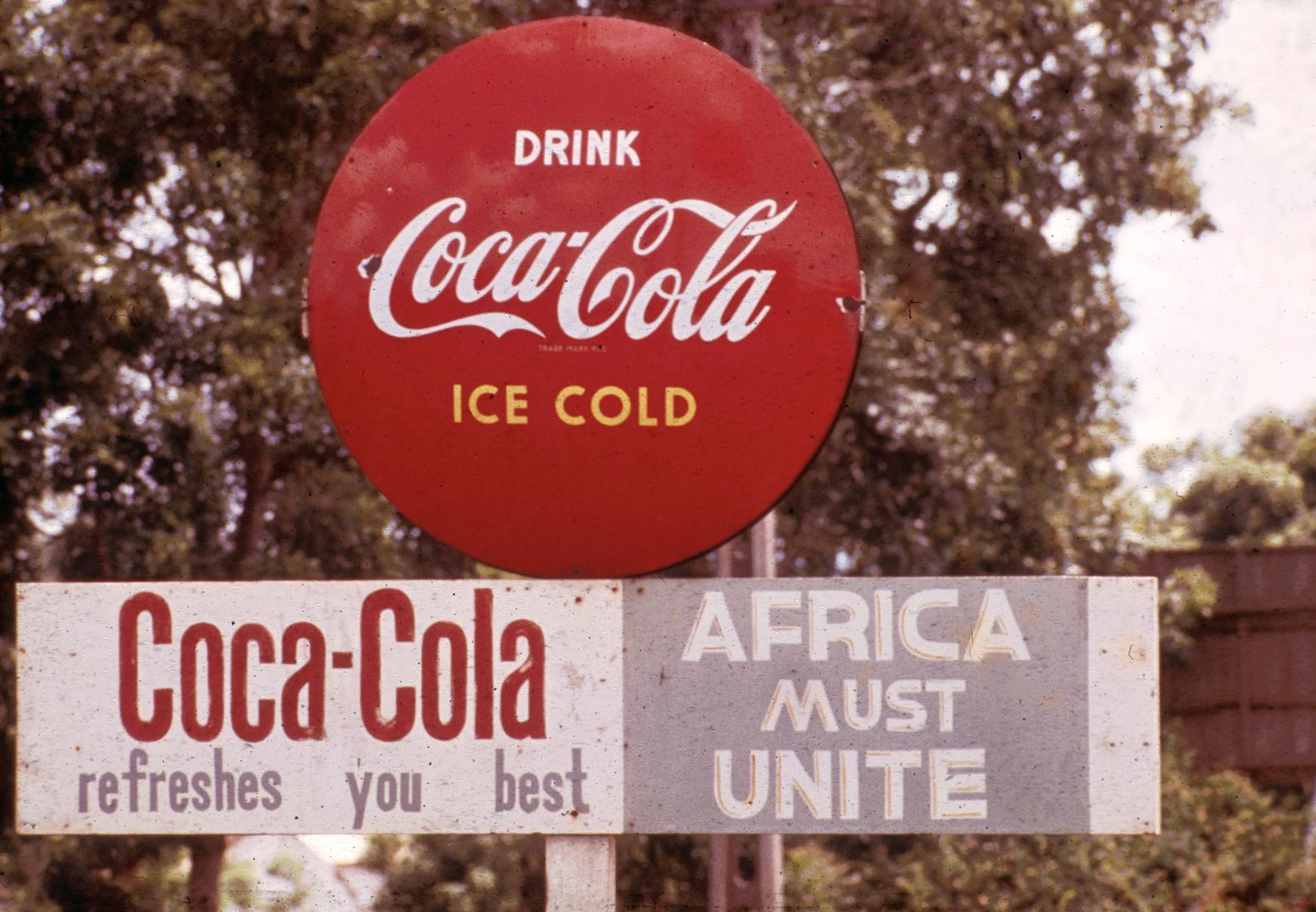 Africa Must Unite Sign on Coca-Cola Billboard