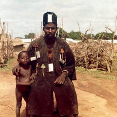 Tumu Man Dresed as a Warrior