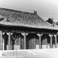 Front hall and east gate of the Xihuang Si (Xihuang Temple) 西黃寺.
