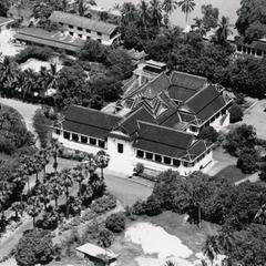 Aerial view of the Royal Palace in the city of Luang Prabang in Luang Prabang Province