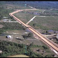Dam road and air strip