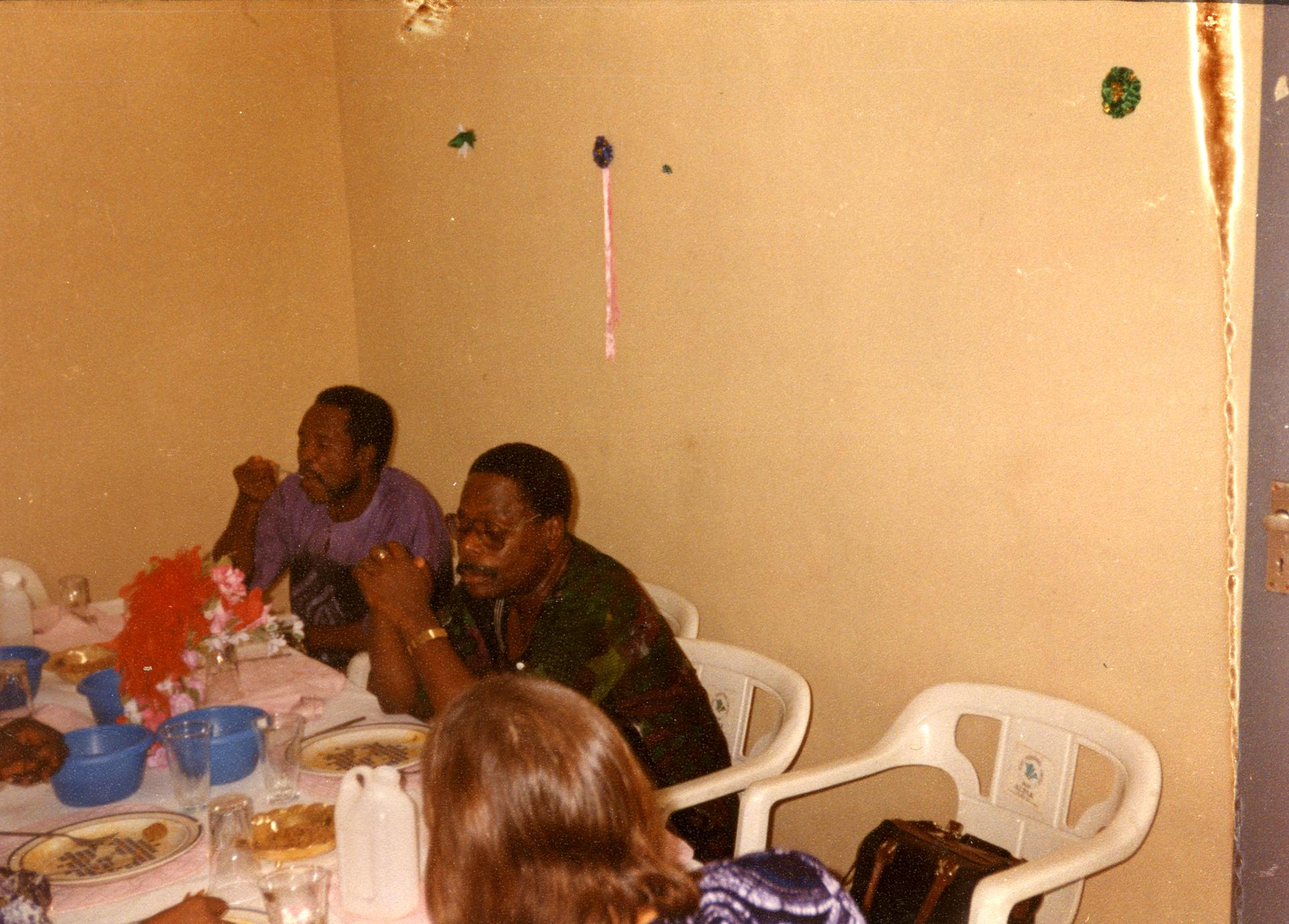 Dinner party with the vice-chancellor of Obafemi Awolowo University.