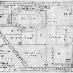 Diagram of new athletic field at Camp Randall