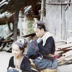 Two Blue Hmong women in northern Thailand