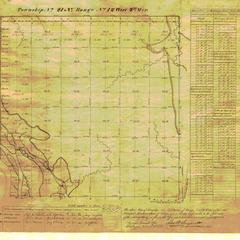 [Public Land Survey System map: Wisconsin Township 21 North, Range 12 West]