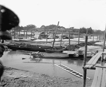 Lumber rafts at Yeungkong 陽江.
