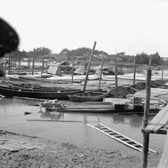 Lumber rafts at Yeungkong 陽江.