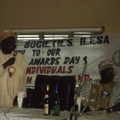 Banner at award ceremony