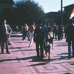 Pro-Republic Demonstrators at Anti-Republic Day Rally, University of the Witwatersrand, Johannesburg