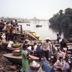 Boats docked in Igbo Koda