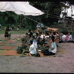Villagers praying