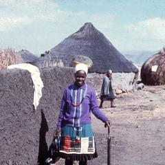 Zulu Woman in Village