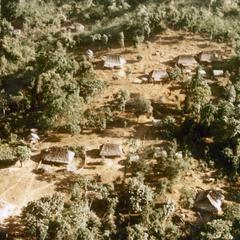 Aerial view of White Hmong village in Houa Khong Province
