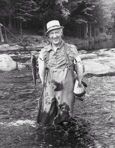 Governor Warren Knowles with trout