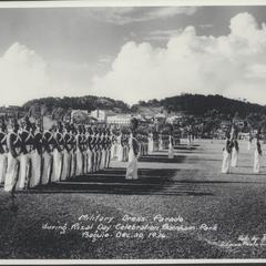 Military dress parade during Rizal Day celebration, Baguio