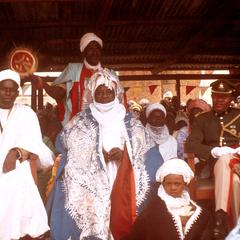 Emir of Zaria with Military Representative of North Central State