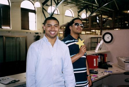 Two students at the Multicultural Student Center