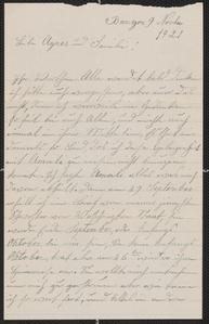 [Letter from A. Maria Koehler to Agnes Sternberger Husting, November 9, 1921]