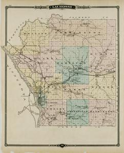 Map of La Crosse County, State of Wisconsin
