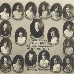 1930 Zwingli Reformed Church confirmation class