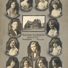 1927 New Glarus High School graduating class