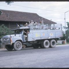 Soldiers in truck on way to boun