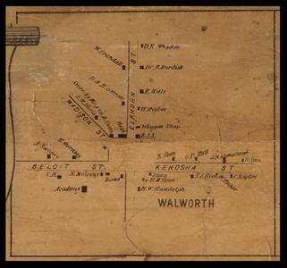 Walworth, town map