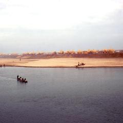 A View of River Town from the Baro River at Hieght of the Dry Season