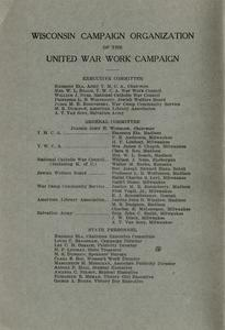 Page 2 - United War Work Campaign as conducted in Wisconsin November 11-20, 1918