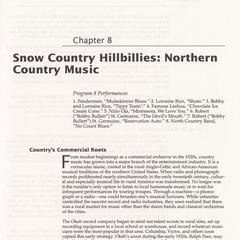 Snow country hillbillies : Northern country music