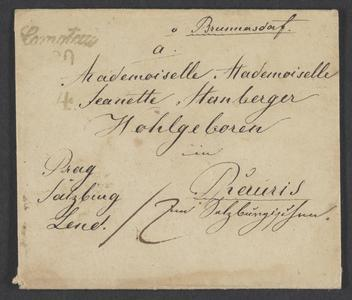 [Envelope addressed to Jeanette Sternberger, April 26, 1845]