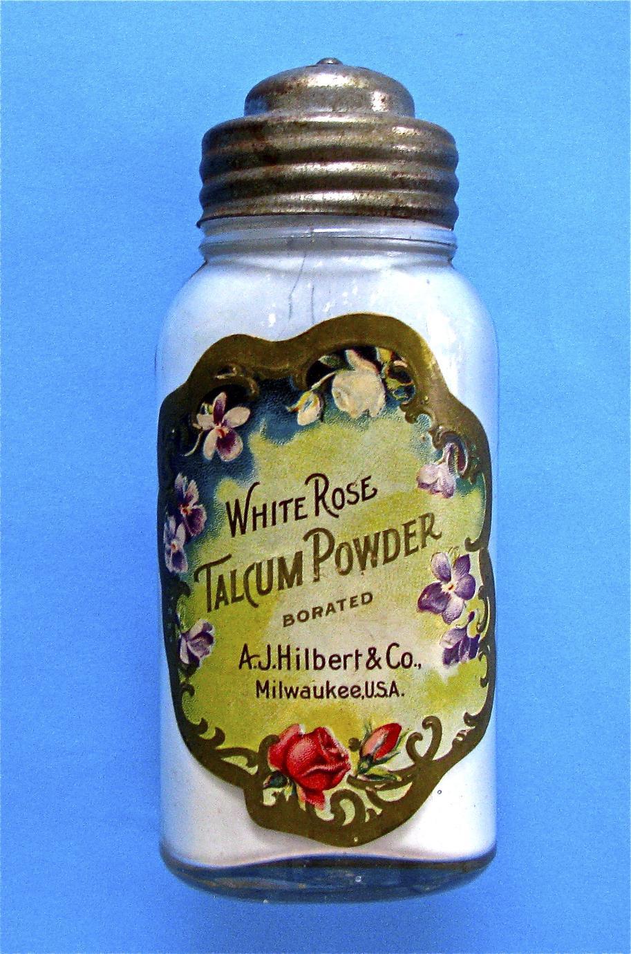 White Rose talcum powder