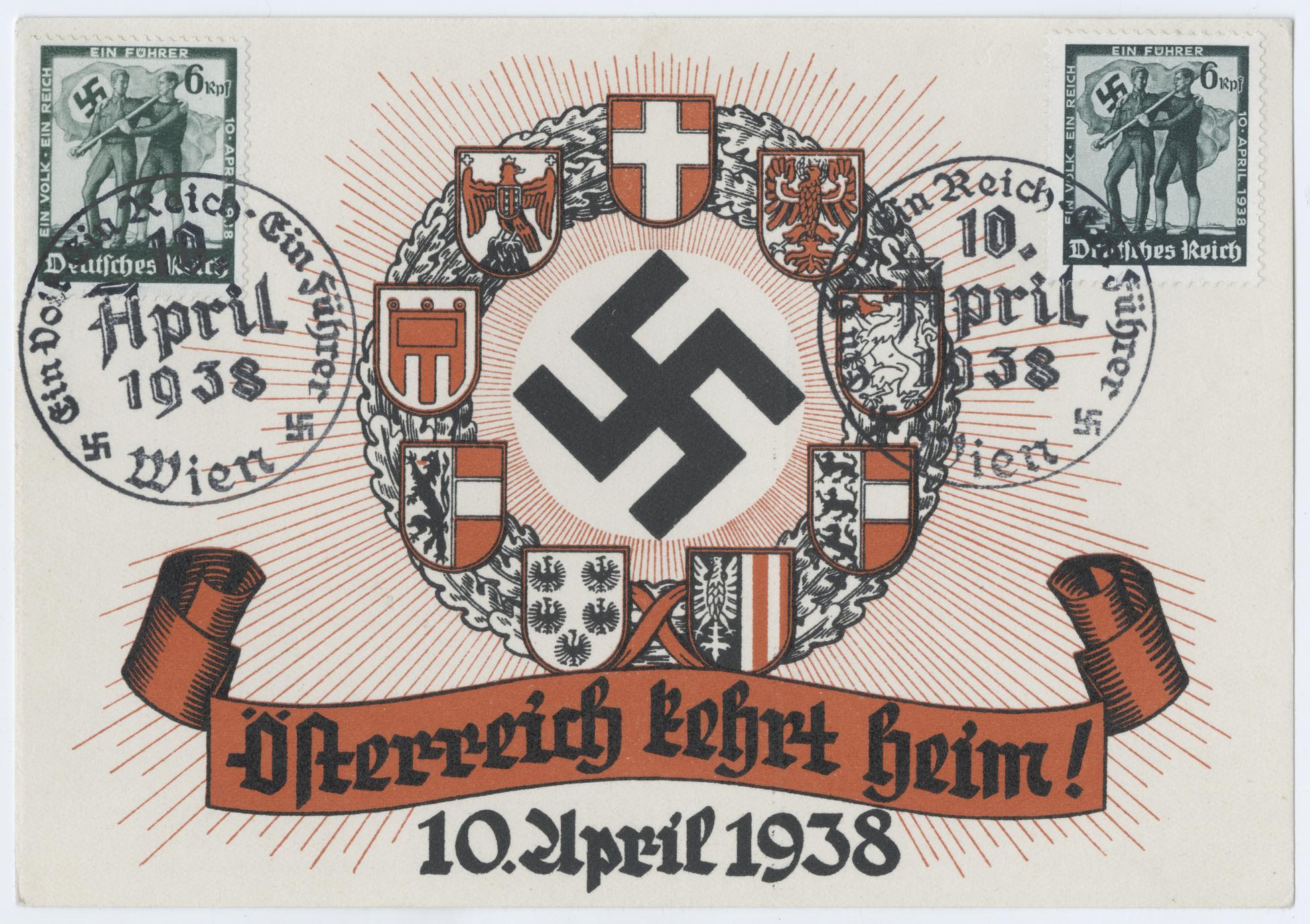 Österreich kehrt heim! 10. April 1938