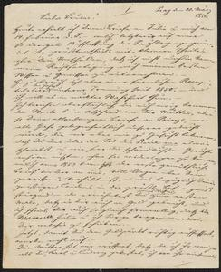 [Letter from Kajetan Sternberger to his brother, Jakob, March 20, 1856]