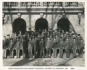 Fourth Graduating Class Aircraft Machinists - University of Wisconsin - 1943