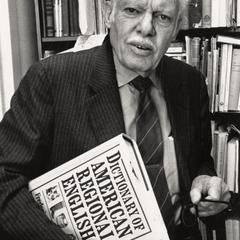 Frederic Cassidy with his Dictionary of American Regional English