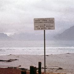 Sign Indicating that Beach is for Whites Only, Cape Town