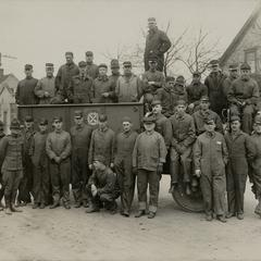 Nash factory employees with a U.S. Army Jeffery Quad
