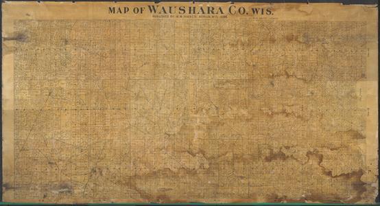Map of Waushara County