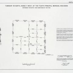 [Public Land Survey System map: Wisconsin Township 48 North, Range 04 West]