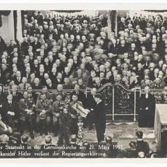 Potsdam. Der Staatsakt in der Garnisonkirche am 21. Marz 1933