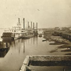 The Arkansas and other boats at the levee in Winona, Minnesota