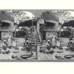 Winnowing rice by hand, Pandacan, 1902